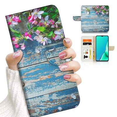 AU12.99 • Buy ( For Oppo A73 ) Flip Wallet Case Cover PB24085 Flower Timber
