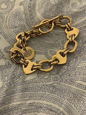 Juicy Couture Gold Chunky Chain Charm Bracelet • 5£