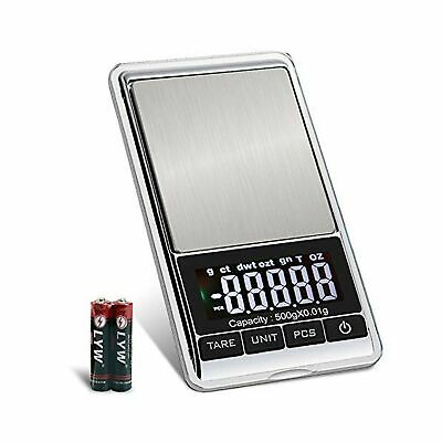 $14.99 • Buy Digital Precision Gram Scale, 0.001oz/0.01g 500g Mini Pocket Scale, Portable ...