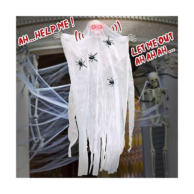$ CDN26.50 • Buy ESSENSON Halloween Decorations Hanging Ghost, 67 Inch Animated Skeleton With ...