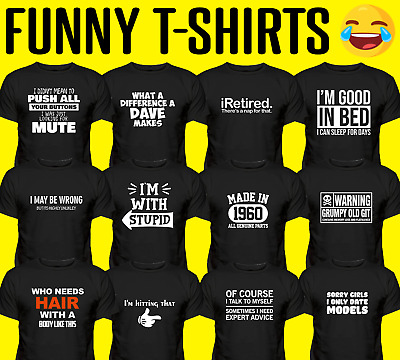 Men Funny T-Shirts Novelty T-Shirts Joke T-shirt Clothing Birthday Tee Gift  • 9.09£
