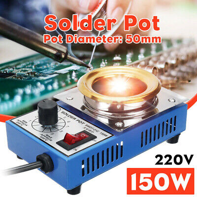 150W Solder Pot Stainless Steel Plate Tin Melting Fast Thermal Effect Equipment • 15.11£