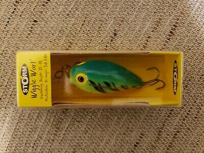 $18 • Buy 2000 Storm Magnum Wiggle Wart (Hot Tiger) Fishing Lure 4 Inches Long 3/4 Ounce
