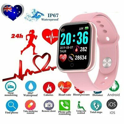 AU19.80 • Buy Smart Watch Waterproof Smartwatch For Android IOS Kids Women Heart Rate Monitor