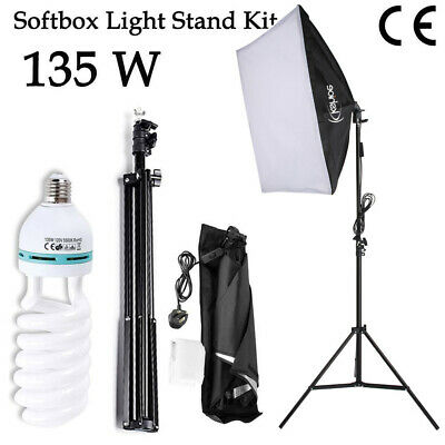 135W Continuous Lighting Soft Box Photography Studio Video W/2M Light Stand Kit • 21.96£
