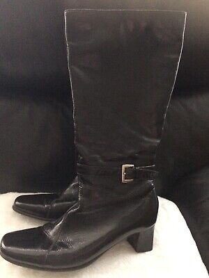 Pavers Black Patent Boots Size 7 - Good Condition • 4.99£