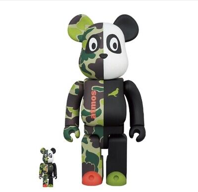 $313.66 • Buy Atmos X Staple 3 Bearbrick 400 & 100% Set. Medicom Toy Be@rbrick