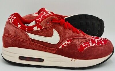 Nike Air Max 1 Liberty Suede Trainers Sport Red/White 528898-600 UK6/US8.5/EU40 • 34.99£