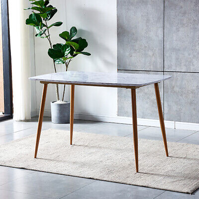 Modern Clear Tempered Glass Dining Table Metal Chrome Legs Dining Room Kitchen  • 89.99£