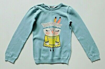 Girls Childrens Clothes Long Sleeve Owl Jumper H&M – Age 6-8 Years • 4.99£