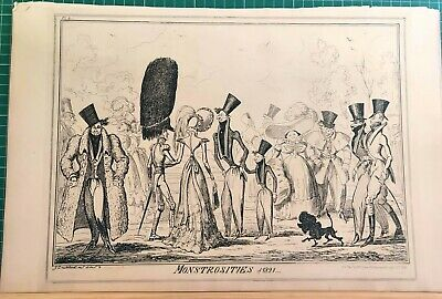 Monstrosities Of 1821   George Cruikshank.   • 45£