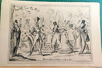 Monstrosities Of 1819 & 1820   George Cruikshank.   • 45£