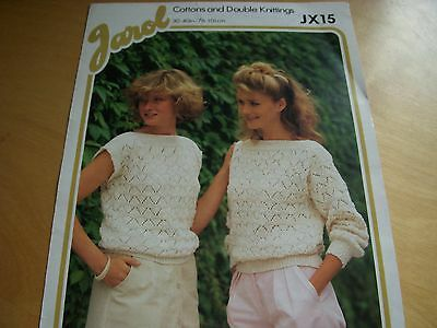 351/ JAROL Knitting Patterns Slash Neck Sweater 30 -40   Long Or Sleeveless DK • 1.10£