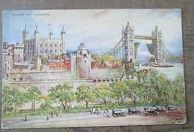 Tower Of London. Art Colour. Brian Gerald. Valentines 1930s • 1£