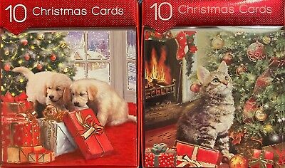 A5 Personalised Ginger Cat Christmas Tree Card ANY NAME Xmas PIDXM662