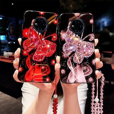 AU12.85 • Buy Luxury Bling Diamonds Butterfly Plush Cases For IPhone 11 12 Pro XS MAX XR 7 8 +