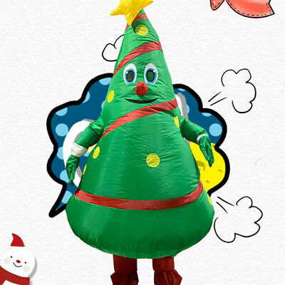 XMAS Funny Inflatable Christmas Tree Costume Blowup Party Cosplay Fancy Dress UK • 25.99£