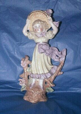 Antique German Bisque Porcelain Woman/Lady Figure  - Back Stamped 242 • 22.99£