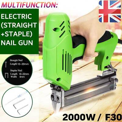 1800W Electric Straight Nail Gun 10-30mm Special Use 30/min Woodworking Tools • 49.99£