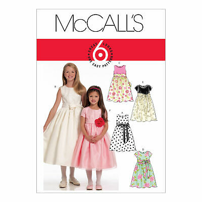 McCalls Sewing Pattern 5795 Girls Dress Party Bridesmaid 3-6 & 7-14Years Easy • 9.69£