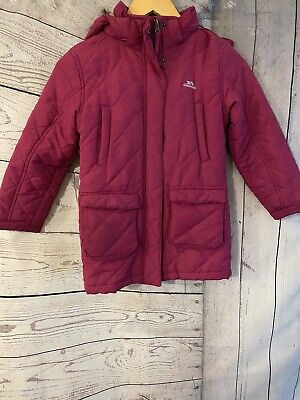 Girls Trespass Pint Quilted Parka Coat Age 5-6 Years See Description  • 8.50£