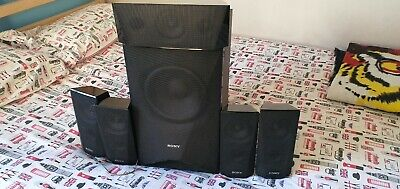 Sony 5.1ch Home Cinema Speakers 1 Subwoofer 4 Satelite And 1 Centre Speaker • 25.40£