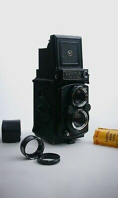 Immaculate Yashica Mat 124G TLR - Includes Macro Lens And 1 Roll Of Portra 400 • 399£