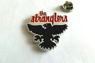 THE STRANGLERS Raven WHITE Embossed PUNK METAL BADGE NEW WAVE Only £2.99! • 2.99£