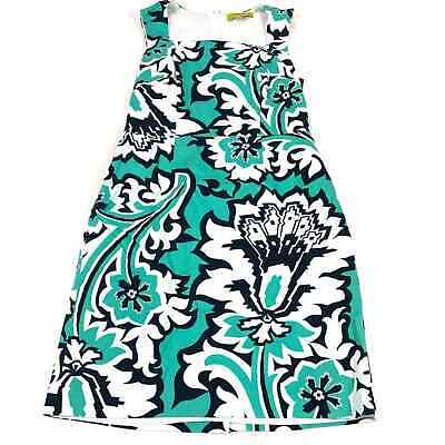 £18.20 • Buy Banana Republic Milly Collection Eden Rock Printed Teal Dress Size 4