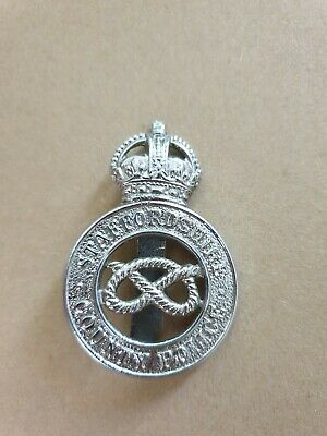 Staffordshire County Police King's Crown Hat Badge • 7.50£