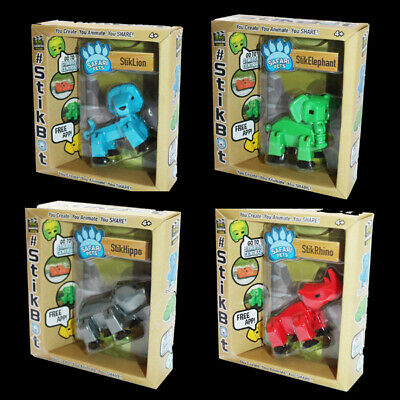 StikBot Safari Pets Lion, Elephant, Hippo, Rhino All In 4 Colours • 7.99£