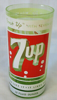 AU45.77 • Buy Green 7 Up Can Logo Glass From 1960's