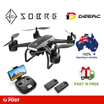 AU116.96 • Buy DEERC D50 Drone For Adults With 2K UHD Camera FPV Live Video 120 FOV 2 Batteries