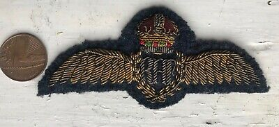 Genuine WW2 Full Dress Wing Raf Pilot Royal Air Force Patch Badge R.A.F. WWII   • 9.99£