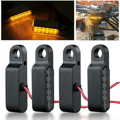 4X LED Mini Motorcycle Front Rear Turn Signals Indicator Blinker Light Lamp 8mm • 13.42£