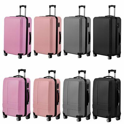 Hard Shell PC+ABS Cabin Suitcase Travel Luggage Large Trolley Lightweight Case • 23.99£