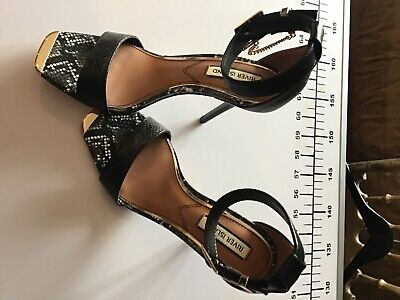 River Island Heels Gold And Black In Shop Now Unwanted Present  • 4.49£