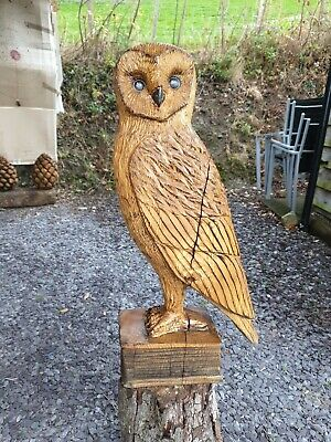 £230 • Buy Chainsaw Carved Solid Oak Owl