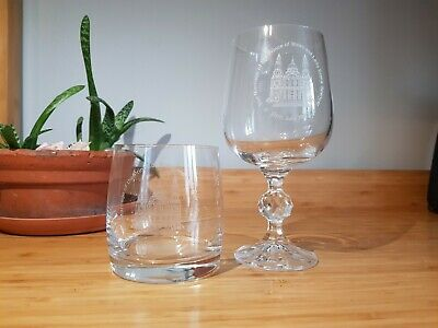 Royal Wedding Charles And Diana Commemorative Tumbler And Wine Glass 1981 • 5.99£