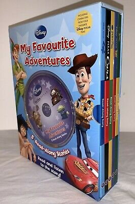Disney My Favourite Adventures 5 Read Along Stories +CD Toy Story Jungle Book • 15£