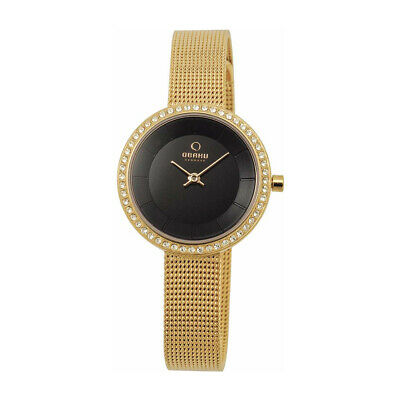 £49 • Buy Obaku V146LEGBMG Ladies Gold Watch With PVD Gold Plated Case
