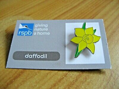 RSPB DAFFODIL PIN BADGE GIVING NATURE A HOME From THE FLOWER'S COLLECTION • 3.50£