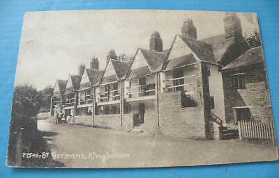 Early Frith B/W POSTCARD - Almshouses, St. Germans, Cornwall • 1.50£