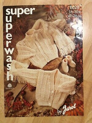 £2.80 • Buy Baby Knitting Patterns.cardigans.scarf.booties.size 16-30 Inch Chest.Aran.Jarol