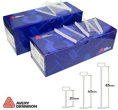 Avery Dennison Attachments, Clear Kimble Barbs For Standard Tagging Gun - 3sizes • 9.75£