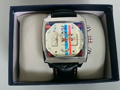 New  Watch Motorsport Steve McQueen Le Mans 24 Hours Retro Racing Cream Face  • 72£