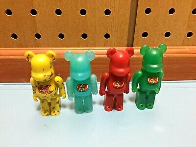 $30 • Buy Lot Of (4) Jelly Belly Medicom Bearbrick Be@rbrick Jelly Bean-themed Bears 100%