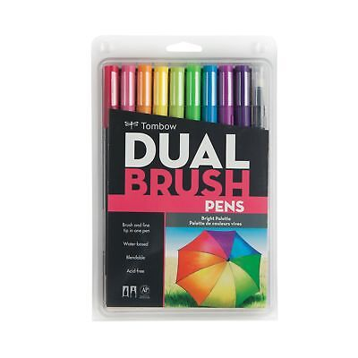 Tombow 56185 Dual Brush Pen Art Markers, Bright, 10-Pack • 13.58£