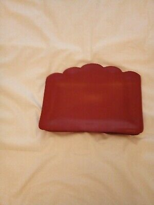 Furla Vintage Leather Red Clutch/Cosmetic Bag, NWOT • 20£