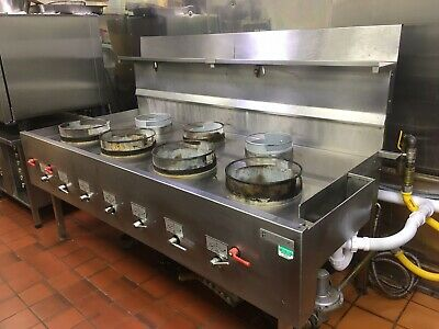 Wok Cooker FarEast 4 Front, 3 Rear Chinese Wok Cooker (Nat Gas) • 2,900£